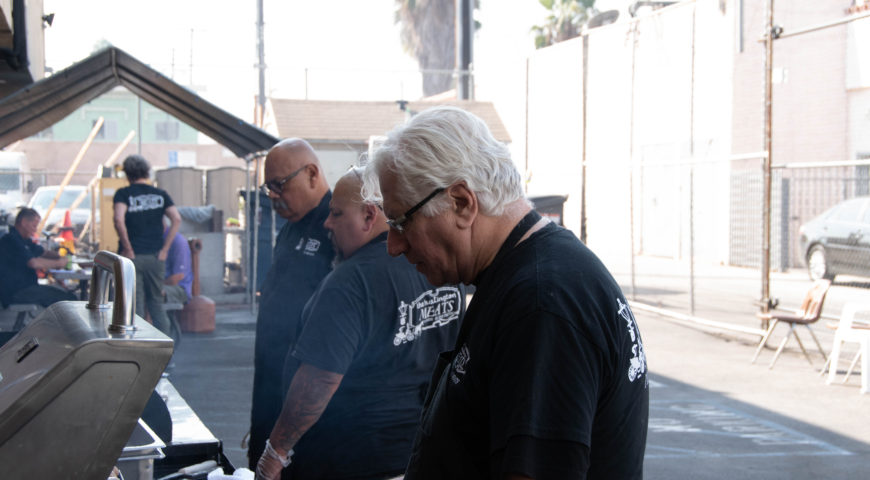 LA Butcher stops in LBC on tour of Homeless Shelters